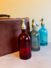 Load image into Gallery viewer, The Artist Lewis - French Light Blue Glass Soda Syphon Seltzer Bottle