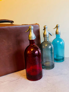The Artist Lewis - French Light Blue Glass Soda Syphon Seltzer Bottle