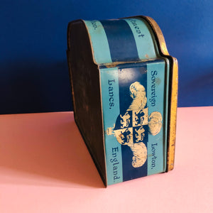 The Mixologist Anne - Vintage Metal Blue Advertising Tin