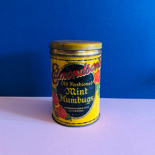 The Mixologist Hunter - Antique Metal Yellow Advertising Tin