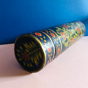 The Mixologist Alice - Vintage Floral Paper Mache Tube