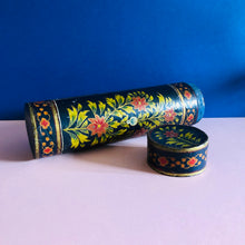Load image into Gallery viewer, The Mixologist Alice - Vintage Floral Paper Mache Tube