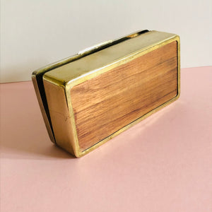 The Mixologist Steve - Vintage Brass Cigarette Box / Desk Box