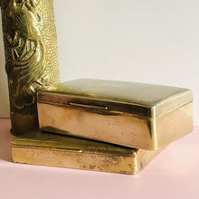 Load image into Gallery viewer, The Mixologist Anton - Vintage Brass Tone Cigarette Box / Desk Box