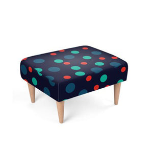 The Sommelier Perry - Velour Spot Print Footstool