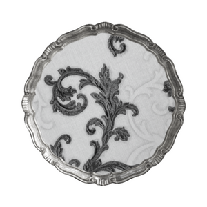 The Tattooist Susan - Silver & White Scroll Leaf Florentine Tray