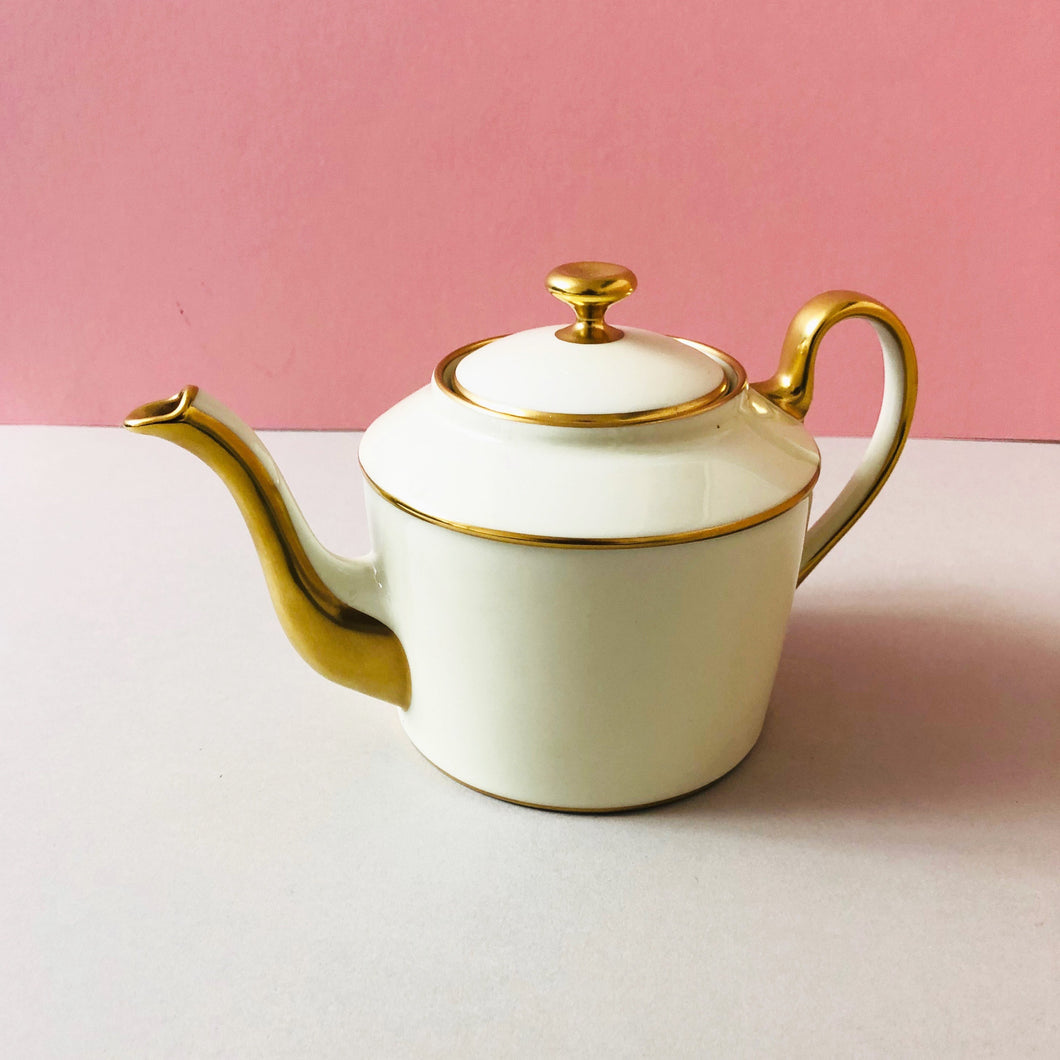 The Punk Adrian - Legle Limoges Yellow Teapot