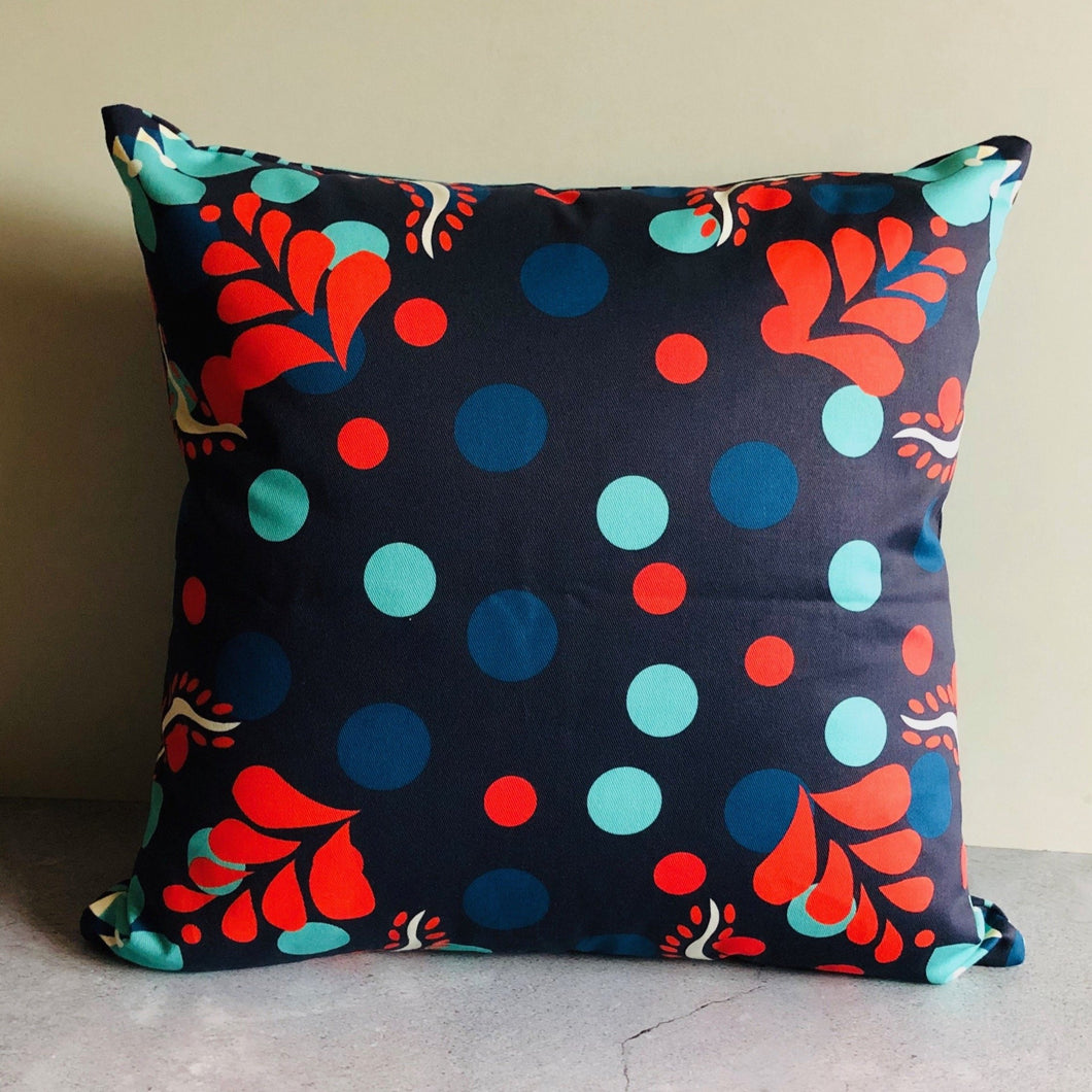 The Sommelier Erin - Cotton Printed Cushion in Folk Design