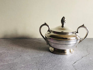 Master Faye - Antique Silver Plate Lidded Sugar Bowl