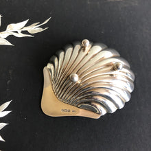 Load image into Gallery viewer, Master Ken -  Antique Silver Shell Design Saltcellar Sheffield 1960