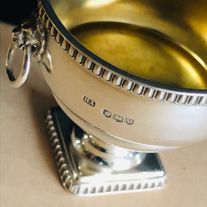 Master Leo - Silver Saltcellar With Lions Head Detail