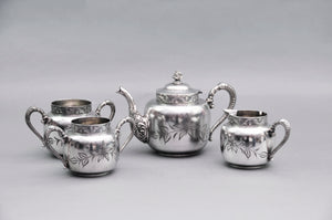 Master Aston - American Quadruple Plate Sugar and Creamer Set