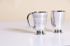 Master Astrid - Pair of Engraved Sliver Tankards
