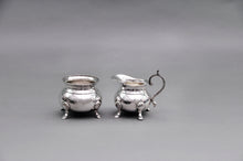 Load image into Gallery viewer, Master Carolyn - Ornate Footed Silver Plate Sugar and Cream Set