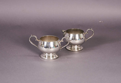 Master Erin - Vintage silver sugar and cream set