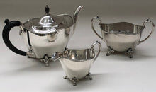 Load image into Gallery viewer, Master Jesse - Antique Silver Art Nouveau Sugar Bowl and Cream Jug