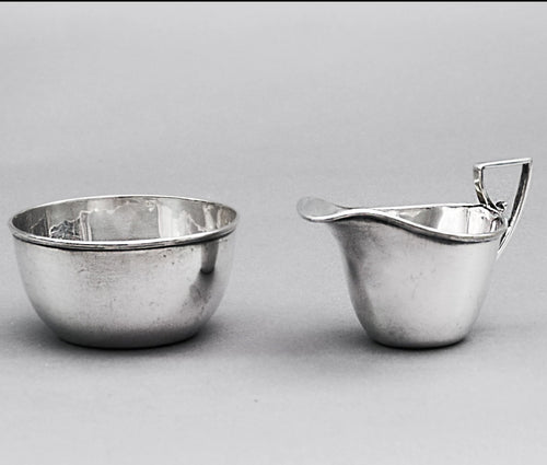 Master Julian - Silver Plate Sugar Bowl and Cream Jug