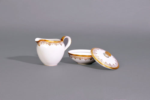 Master Lindsay - Porcelain White and Gold Sugar and Cream Set