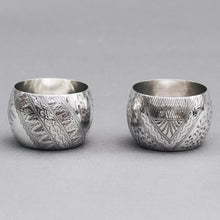 Load image into Gallery viewer, Master Nyle - Pair of Hunkin & Heath Silver Saltcellars