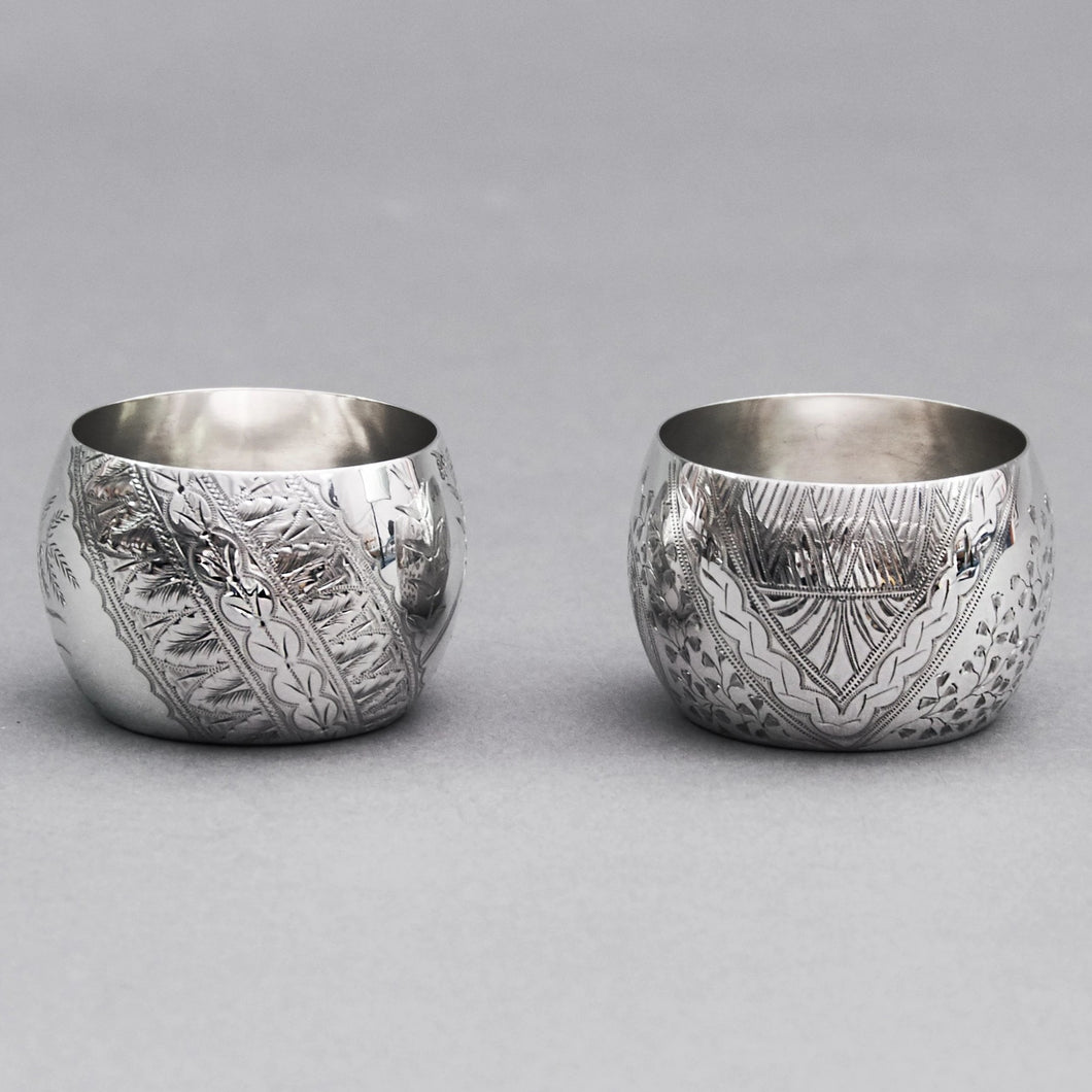 Master Nyle - Pair of Hunkin & Heath Silver Saltcellars