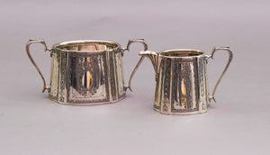 Master Perry - Walker & Hall Silver Plate Sugar and Cream Set
