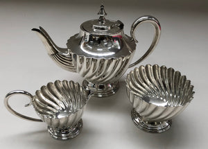 Master Riley - Antique Silver Sugar and Cream Set