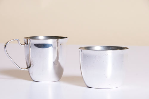 Master Silvia - Antique Silver Sugar and Cream Set