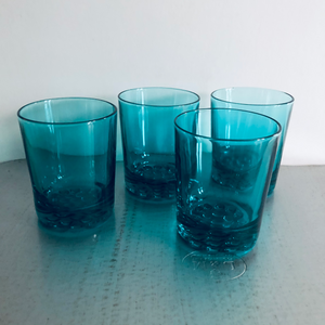 The Stripper Cathy - Mid Century Blue Drinking Glasses