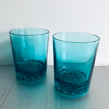 Load image into Gallery viewer, The Stripper Cathy - Mid Century Blue Drinking Glasses