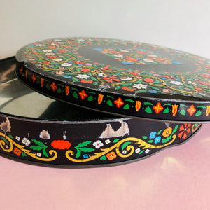 The Mixologist Eleanor - Vintage Colourful Biscuit Tin