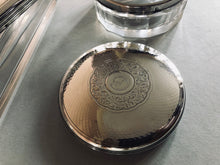 Load image into Gallery viewer, The Mixologist Hazel - Round Glass Vanity Jar With Solid Silver Lid