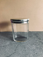 Load image into Gallery viewer, The Mixologist Lindsay - Oval Glass Vanity Jar With Solid Silver Lid