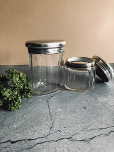 The Mixologist Mario - Oval Glass Vanity Jar With Solid Silver Lid