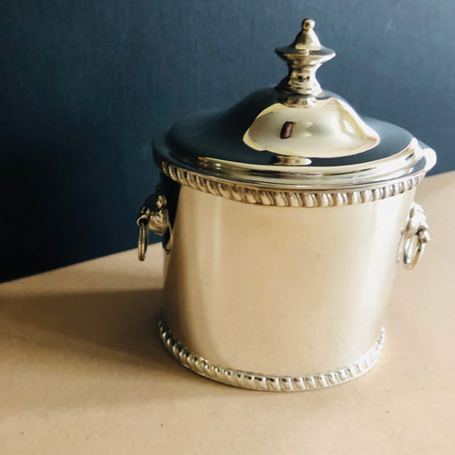 The Mixologist  Mike - Antique Silver Plate Tea Caddy