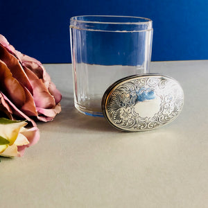 The Mixologist Sandra - Glass Vanity Jar With Solid Silver Lid