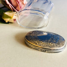Load image into Gallery viewer, The Mixologist Sandra - Glass Vanity Jar With Solid Silver Lid