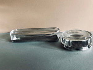 The Mixologist Suri - Long Glass Vanity Jar With Solid Silver Lid