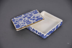 The Mixologist Darren - Vintage Blue & White Ceramic Container