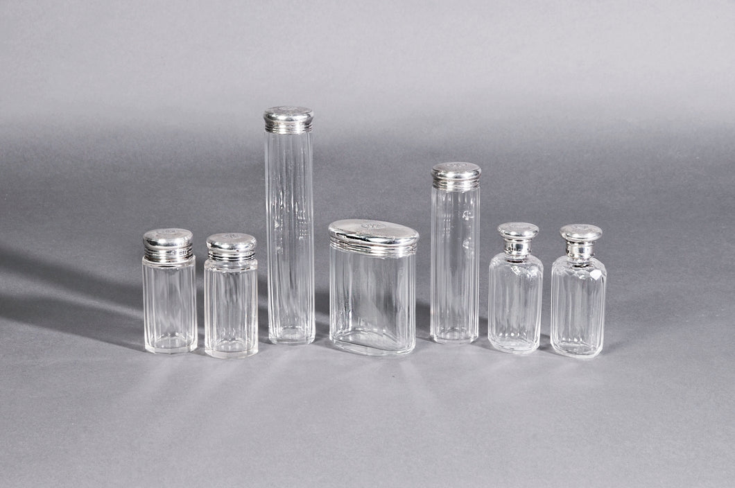 The Mixologist Iva - Set of Glass Jars with Solid Silver Lids