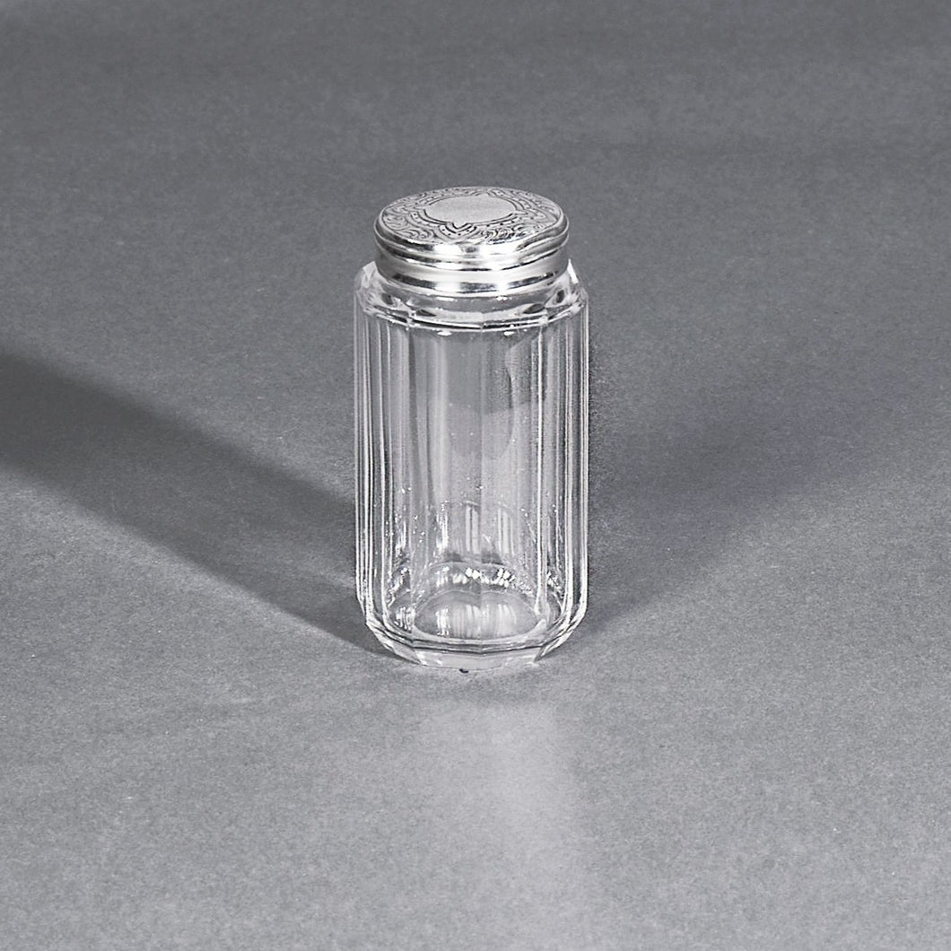 The Mixologist Kendal - Small Glass Container with Silver Lid