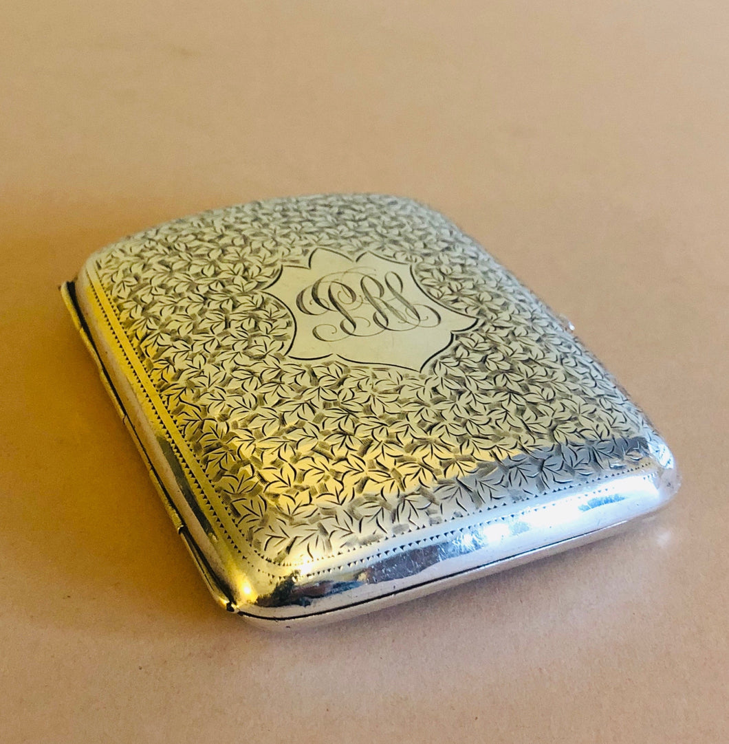 The Mixologist Max - Antique Silver Card Case
