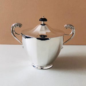 The Mixologist  Meredith - Antique Silver Plate Jar With Silver Lid