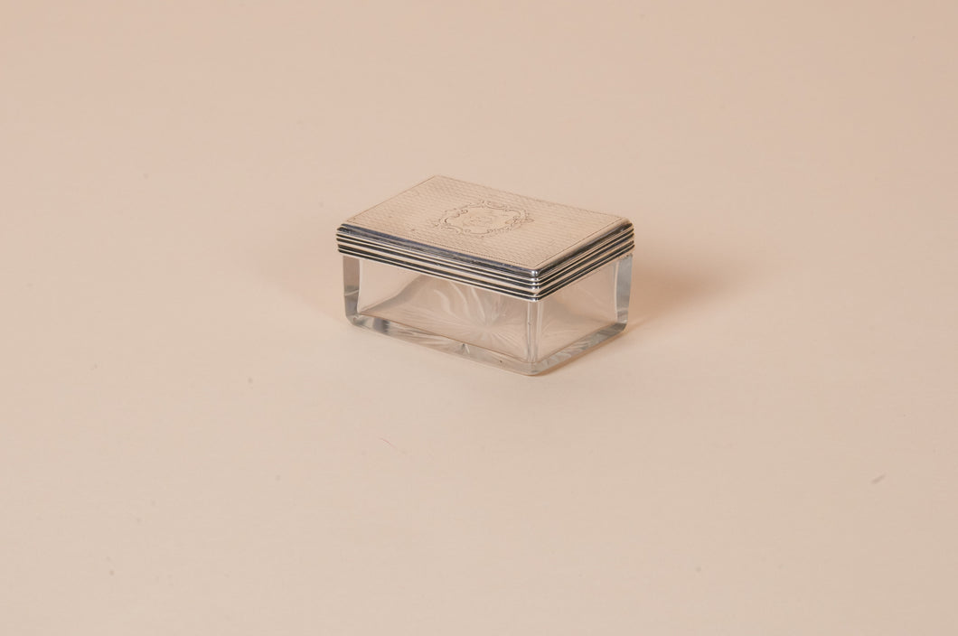 The Mixologist Noel - Antique Rectangle Glass Jar With Silver Lid