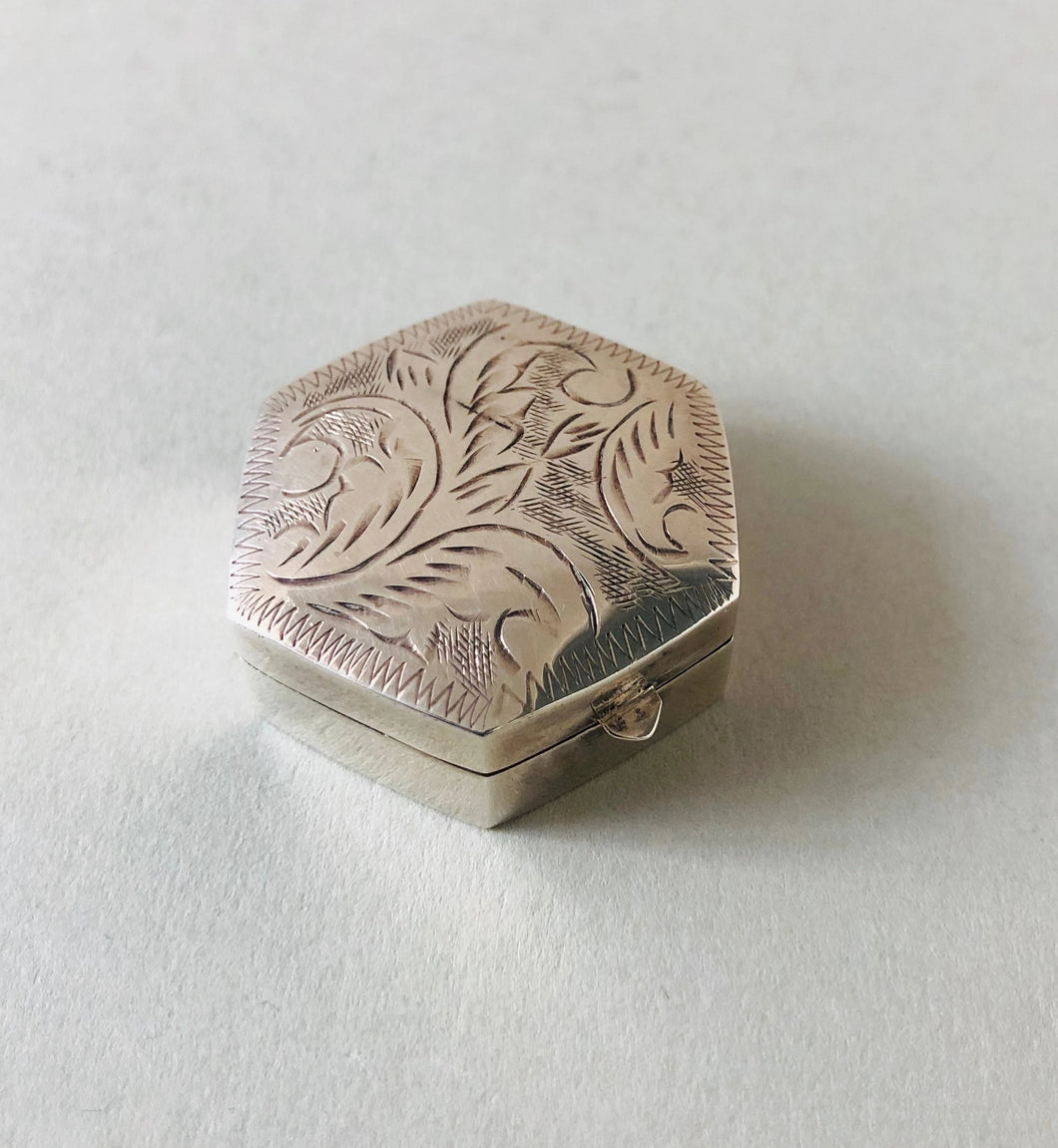 The Mixologist Shane -  Sterling Silver Pill Box