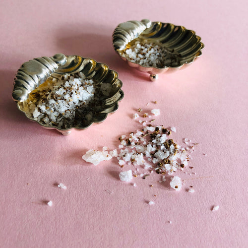 Master Courtney - Pair of Antique Silver Shell Design Salts