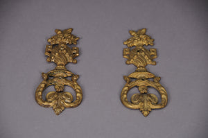 The Pimp Courtney - Pair of Decorative Salvage Brass Plaques
