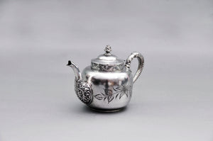 The Punk Albert - Quadruple Plate Floral Engraved Teapot