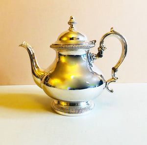 The Punk Aubrey - Large Victorian Style Silver Teapot