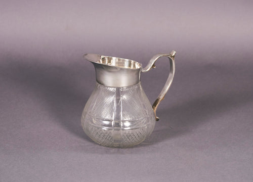 The Punk Samantha - Cut glass jug with silver top