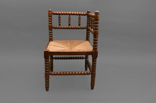 Sergeant Diana - Arts and Crafts Rush Seat Corner Chair
